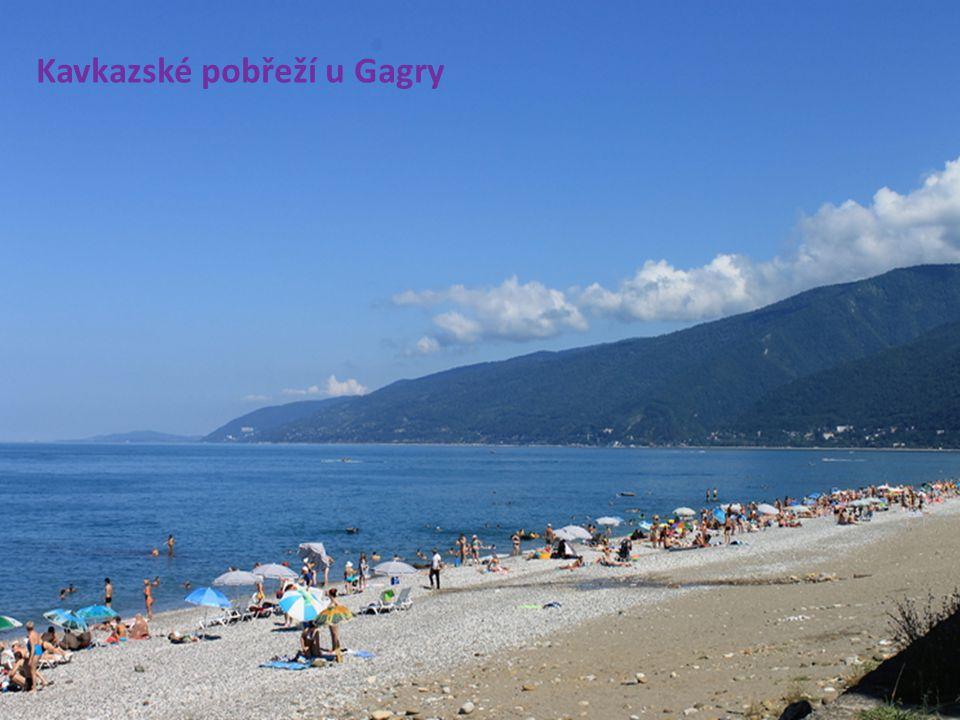 Kavkazské pobřeží u Gagry