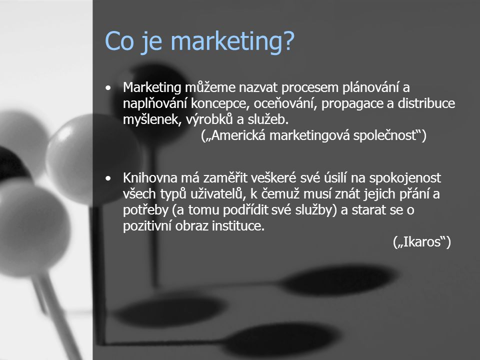 Co je marketing