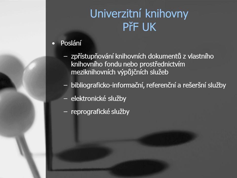 Univerzitní knihovny PřF UK