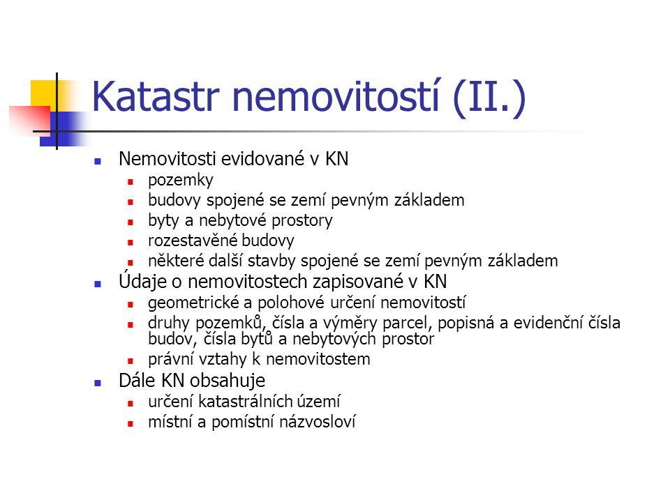 Katastr nemovitostí (II.)
