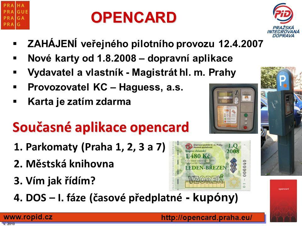Současné aplikace opencard
