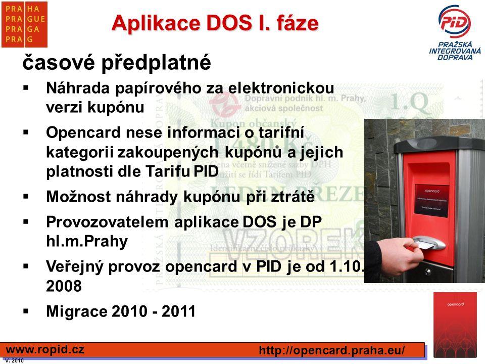 Aplikace DOS I. fáze časové předplatné