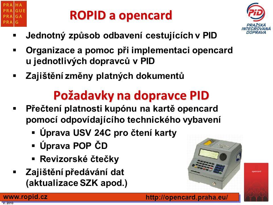 Požadavky na dopravce PID