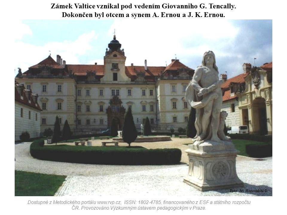 Zámek Valtice vznikal pod vedením Giovanniho G. Tencally