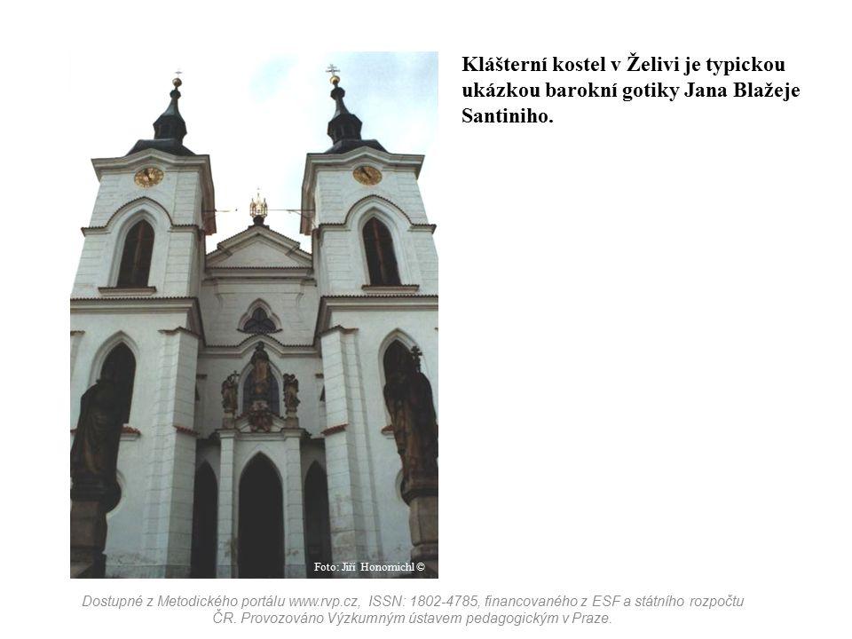 Klášterní kostel v Želivi je typickou ukázkou barokní gotiky Jana Blažeje Santiniho.