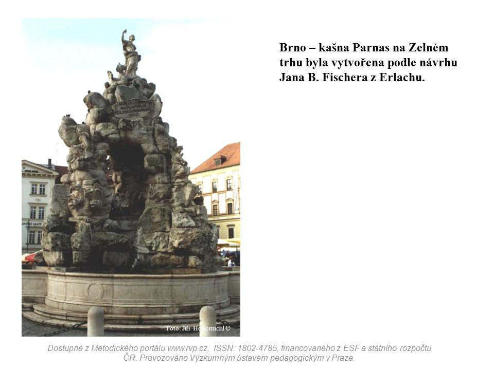 Brno – kašna Parnas na Zelném trhu byla vytvořena podle návrhu Jana B