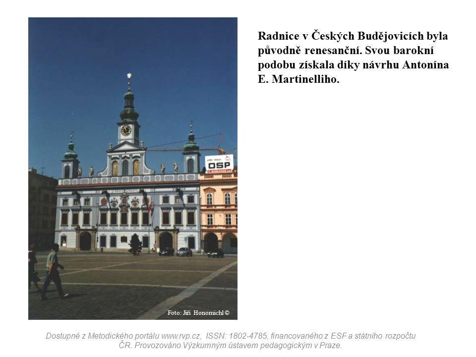 Radnice v Českých Budějovicích byla původně renesanční
