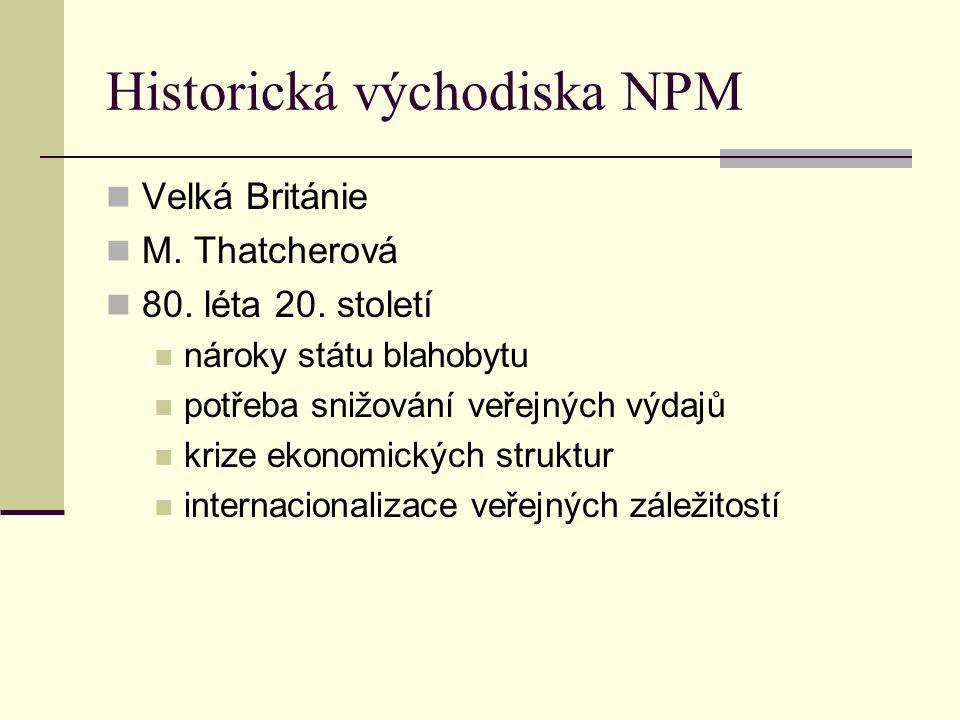 Historická východiska NPM