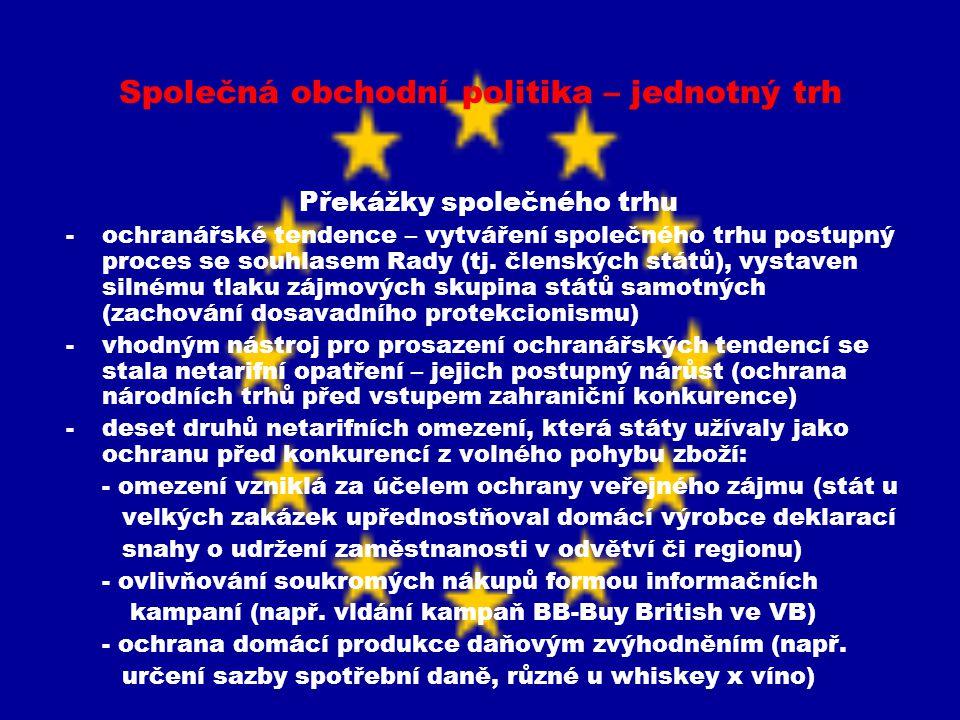 Společná obchodní politika – jednotný trh