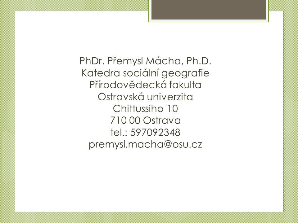 PhDr. Přemysl Mácha, Ph.D.
