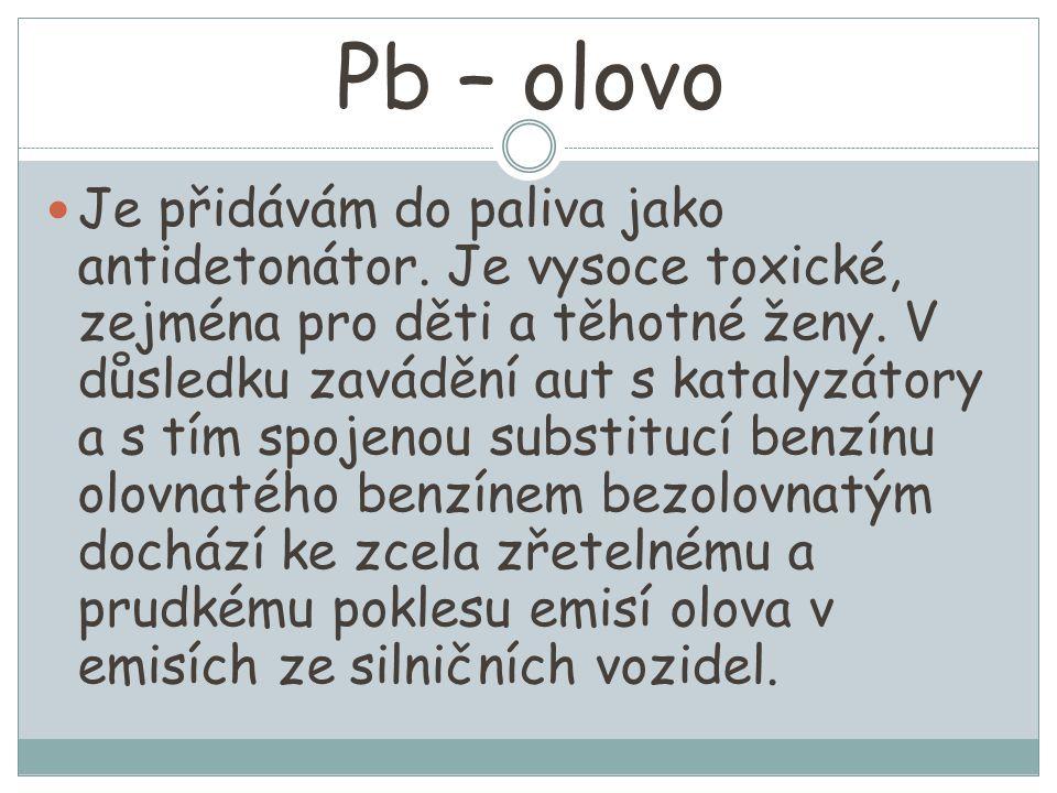 Pb – olovo