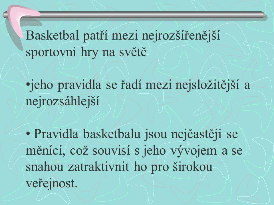 Basketbal patří mezi nejrozšířenější sportovní hry na světě