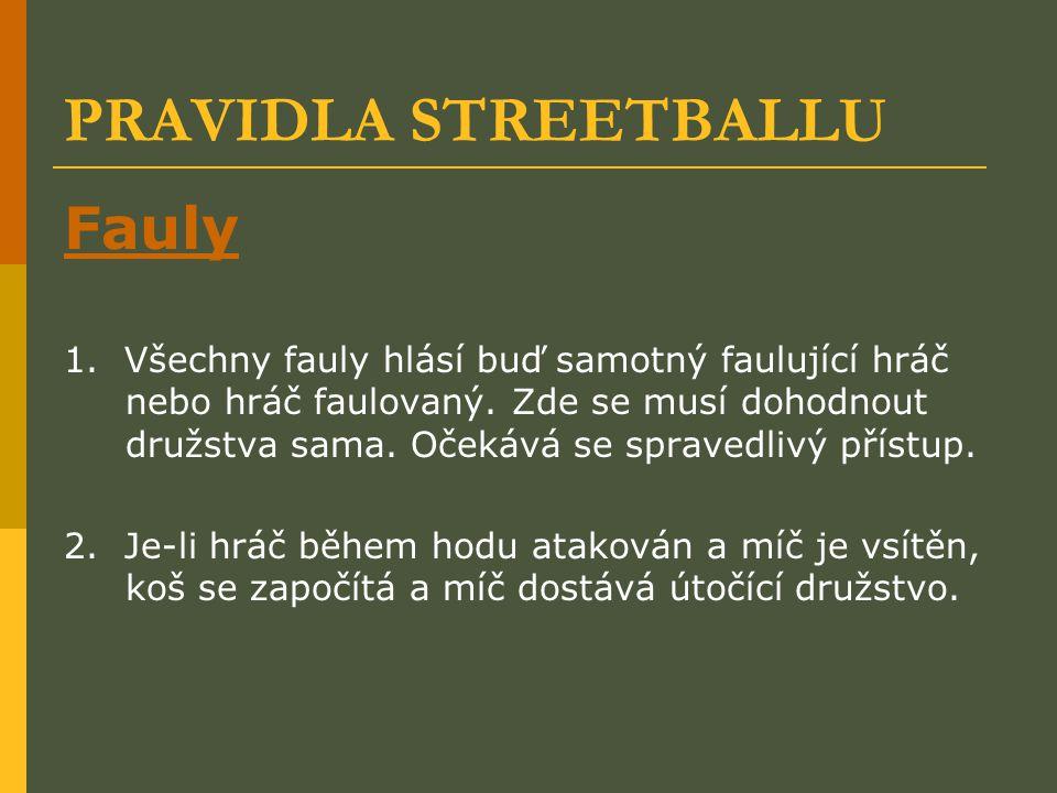 PRAVIDLA STREETBALLU Fauly