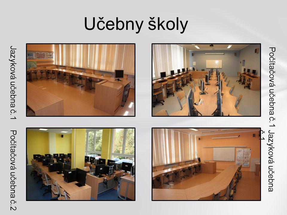 Učebny školy Jazyková učebna č.1 Počítačová učebna č.1