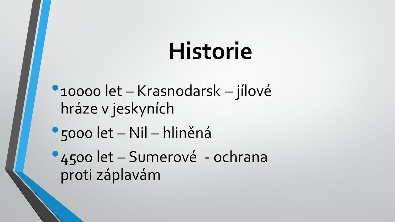 Historie 10000 let – Krasnodarsk – jílové hráze v jeskyních