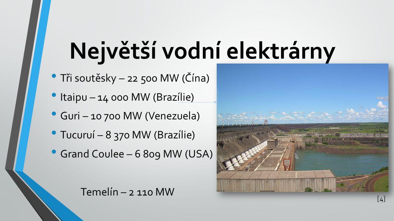 Největší vodní elektrárny