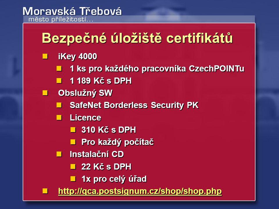 Bezpečné úložiště certifikátů