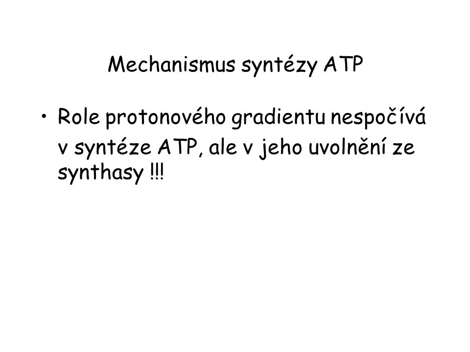 Mechanismus syntézy ATP