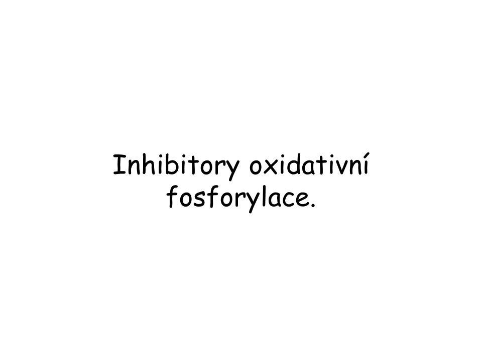 Inhibitory oxidativní fosforylace.