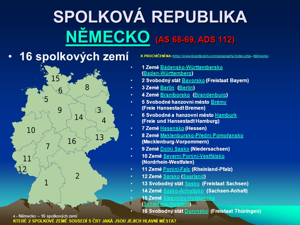 SPOLKOVÁ REPUBLIKA NĚMECKO (AS 68-69, ADS 112)