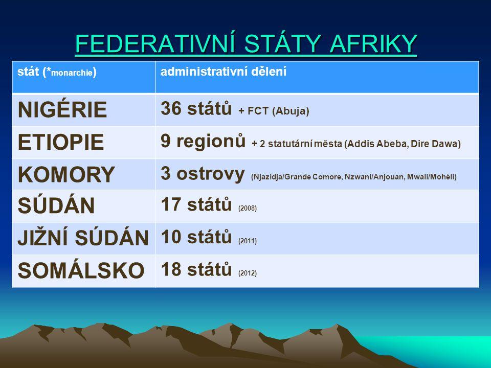 FEDERATIVNÍ STÁTY AFRIKY
