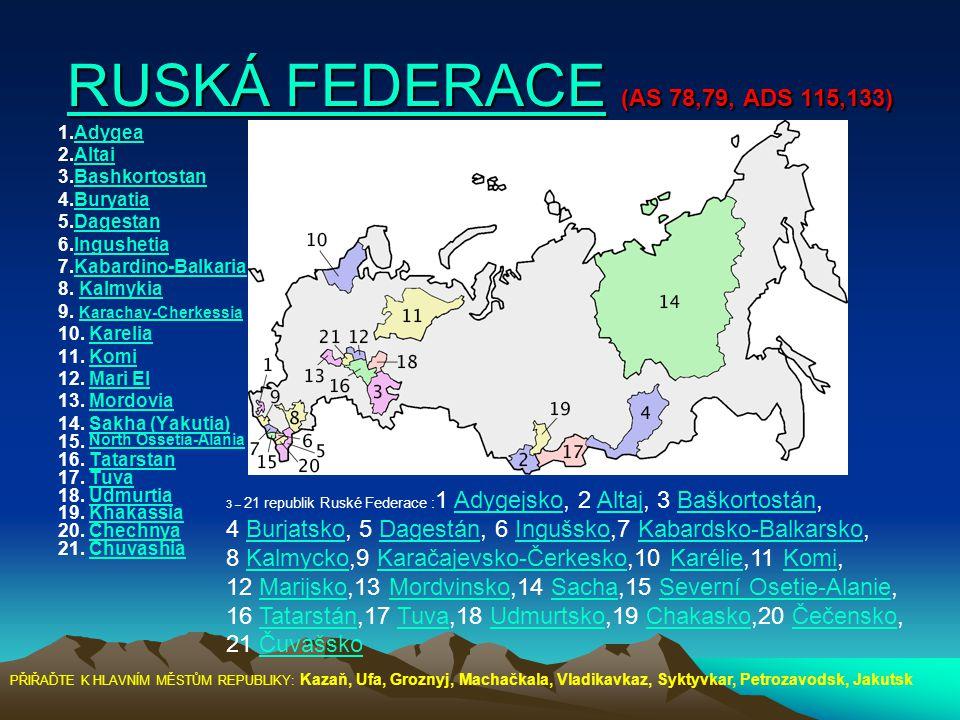 RUSKÁ FEDERACE (AS 78,79, ADS 115,133)