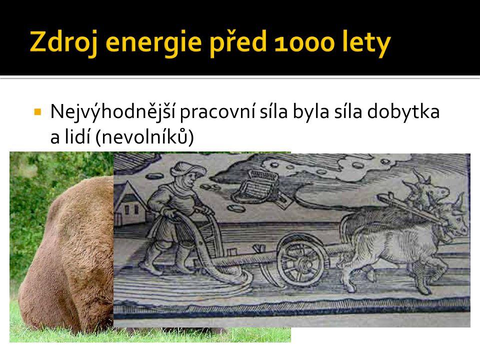 Zdroj energie před 1000 lety
