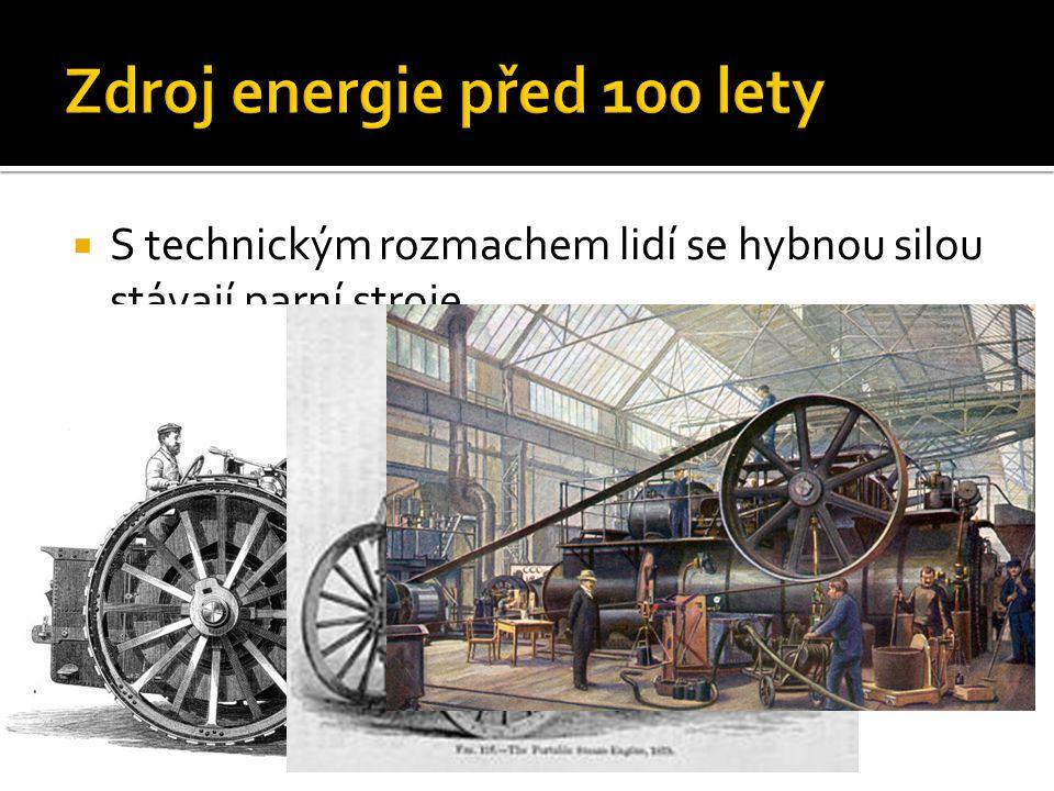 Zdroj energie před 100 lety