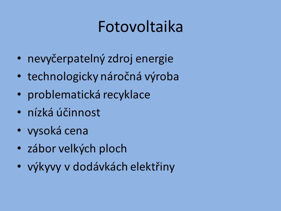 Fotovoltaika nevyčerpatelný zdroj energie technologicky náročná výroba
