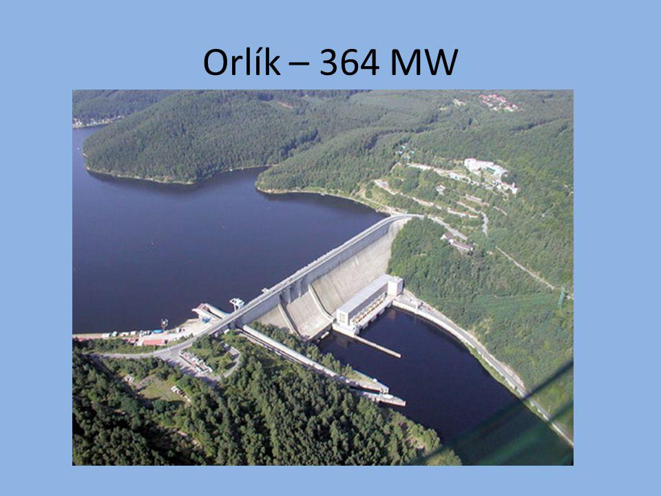 Orlík – 364 MW