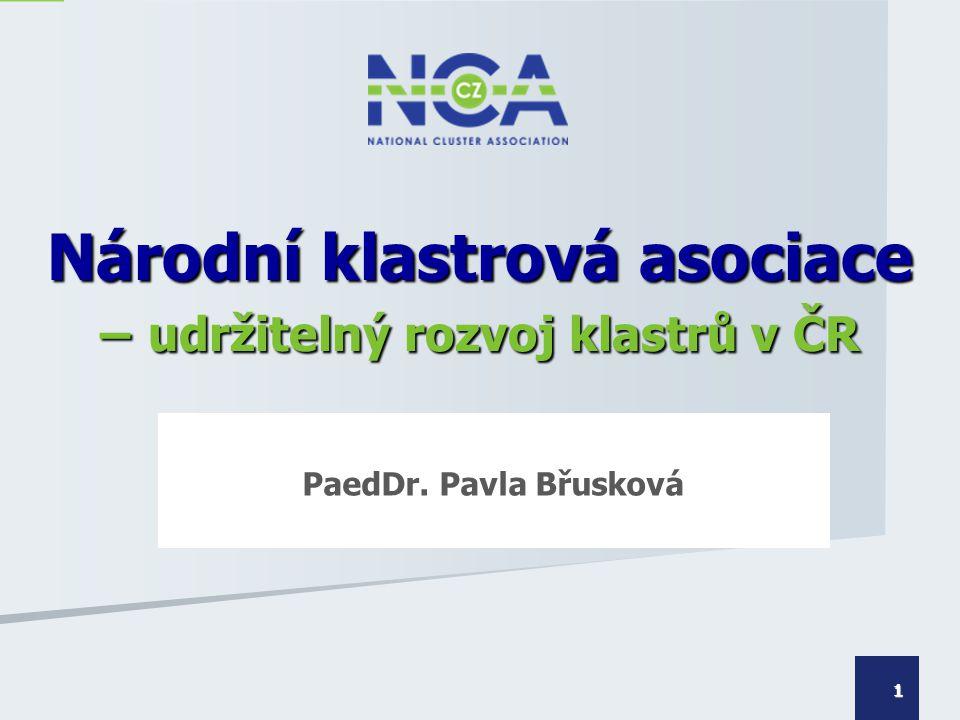Národní klastrová asociace – udržitelný rozvoj klastrů v ČR