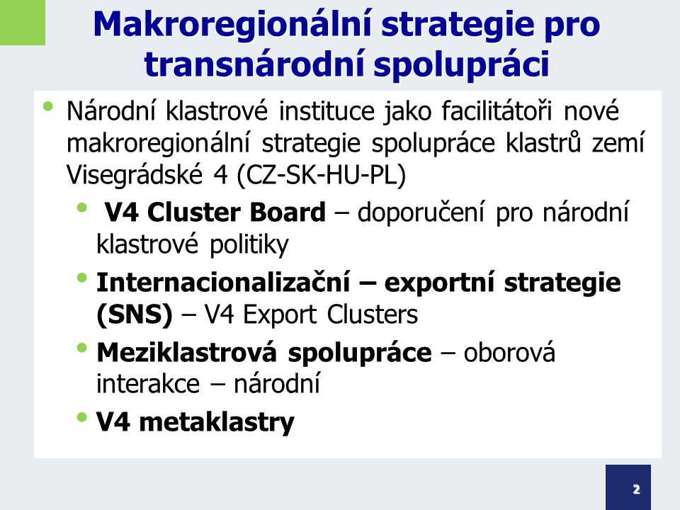 Makroregionální strategie pro transnárodní spolupráci
