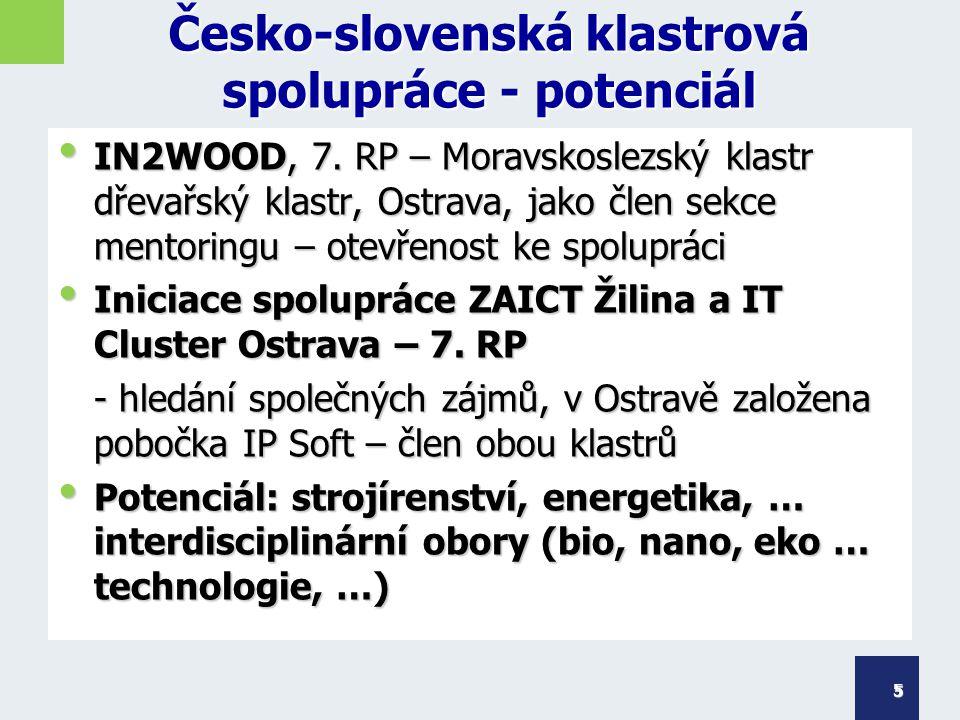Česko-slovenská klastrová spolupráce - potenciál