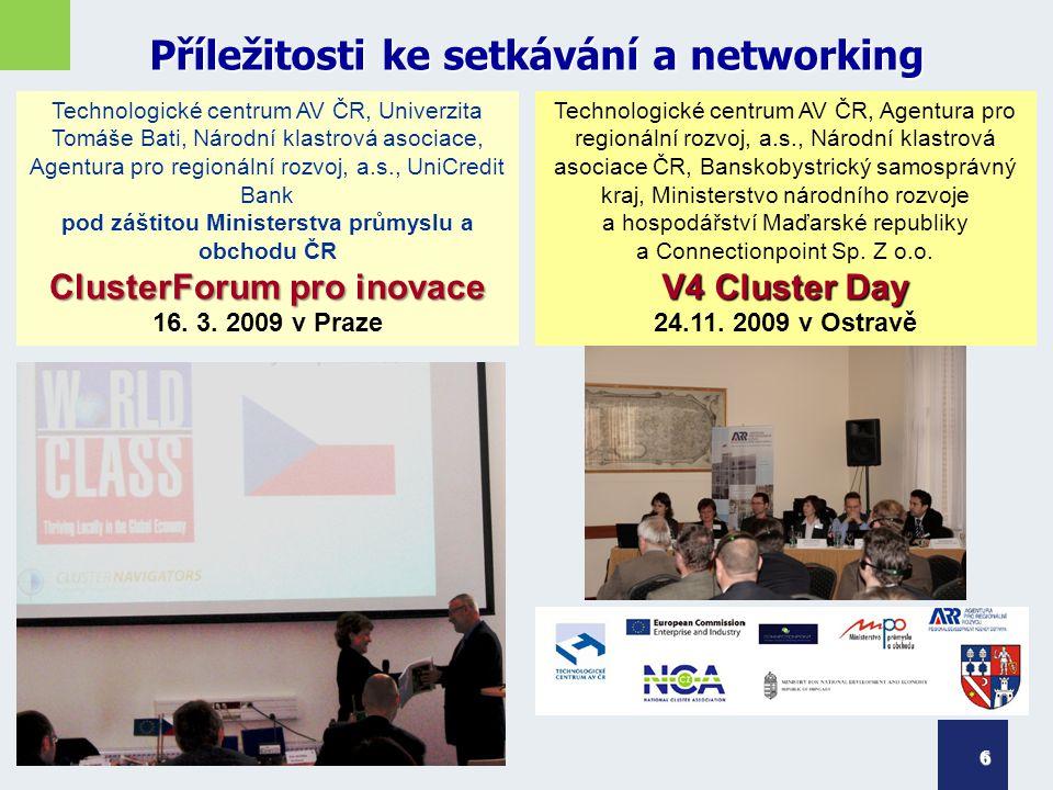 Příležitosti ke setkávání a networking