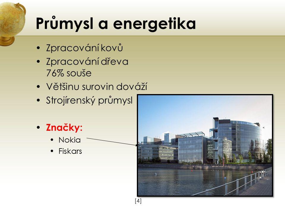 Průmysl a energetika Zpracování kovů Zpracování dřeva 76% souše