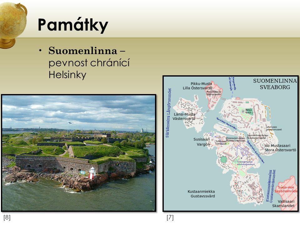 Památky Suomenlinna – pevnost chránící Helsinky