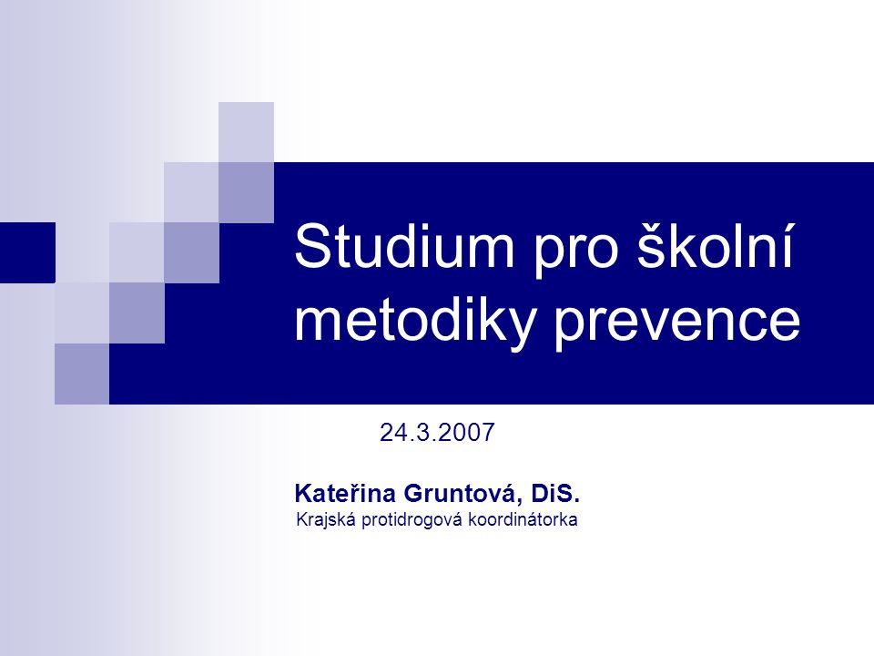 Studium pro školní metodiky prevence