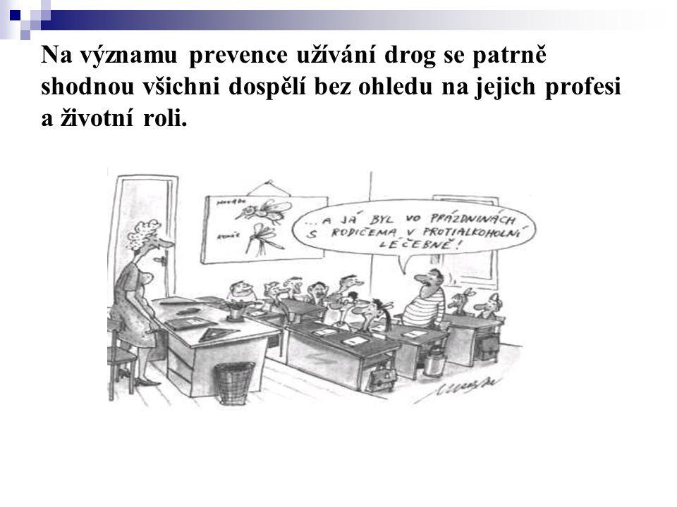 Na významu prevence užívání drog se patrně shodnou všichni dospělí bez ohledu na jejich profesi a životní roli.