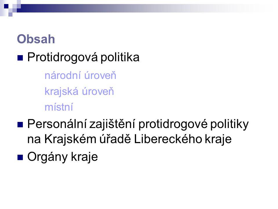 Protidrogová politika národní úroveň