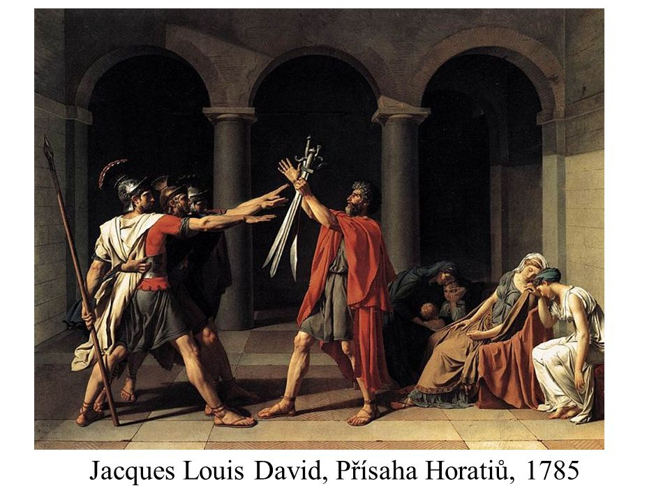 Jacques Louis David, Přísaha Horatiů, 1785