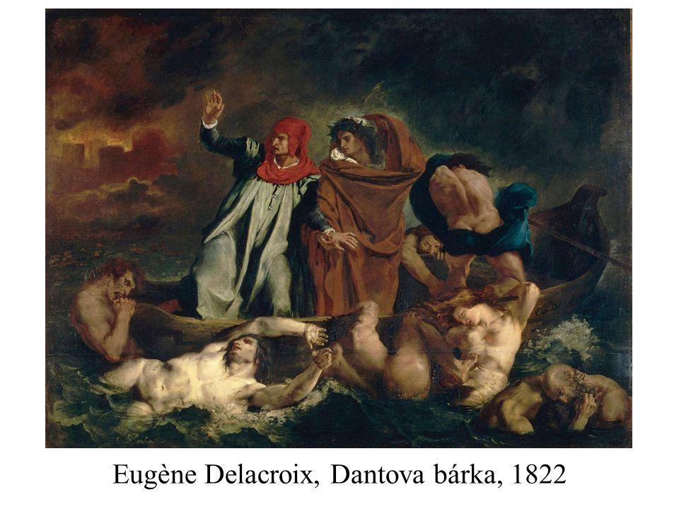 Eugène Delacroix, Dantova bárka, 1822