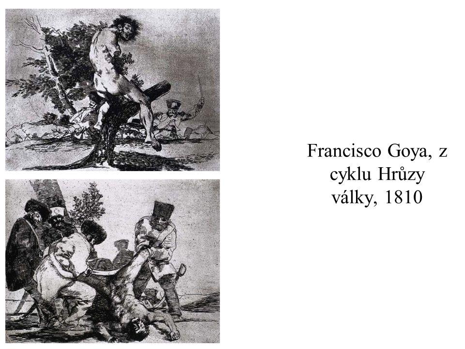 Francisco Goya, z cyklu Hrůzy války, 1810