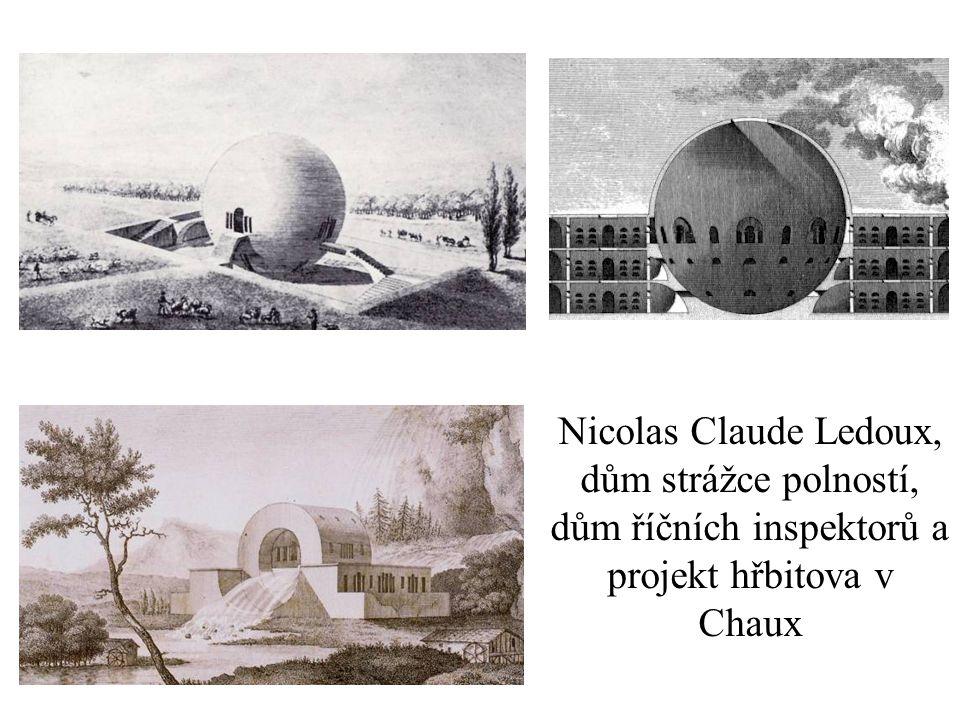 Nicolas Claude Ledoux, dům strážce polností, dům říčních inspektorů a projekt hřbitova v Chaux