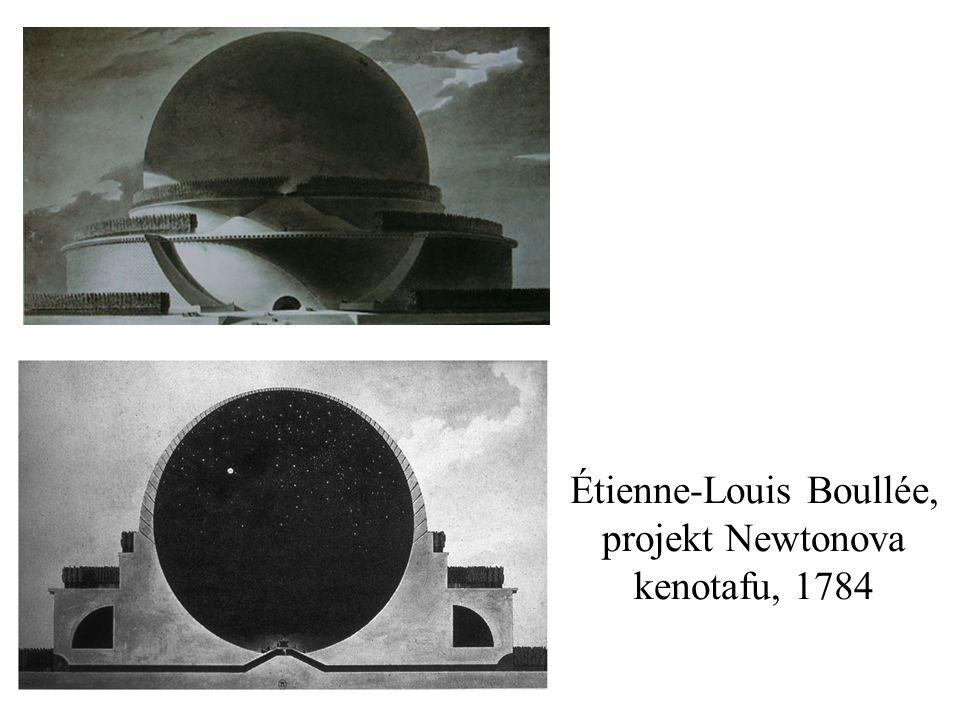 Étienne-Louis Boullée, projekt Newtonova kenotafu, 1784