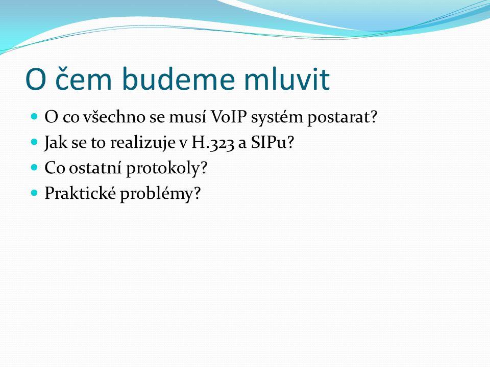 O čem budeme mluvit O co všechno se musí VoIP systém postarat