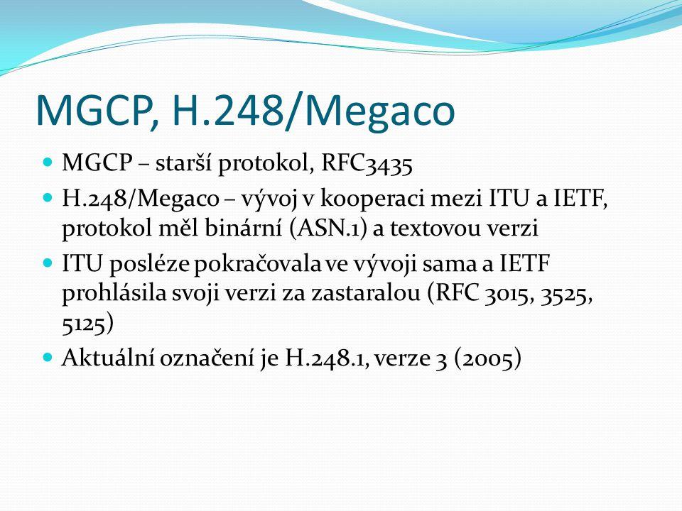 MGCP, H.248/Megaco MGCP – starší protokol, RFC3435