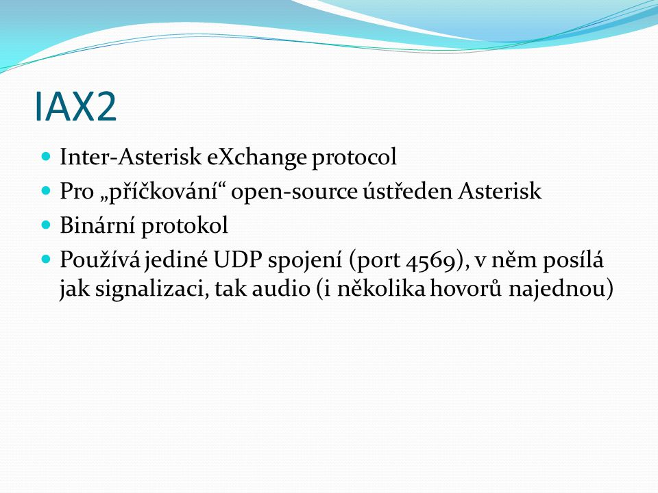 IAX2 Inter-Asterisk eXchange protocol