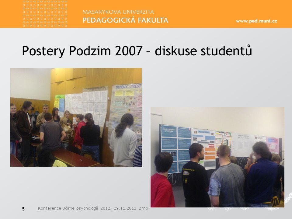 Postery Podzim 2007 – diskuse studentů