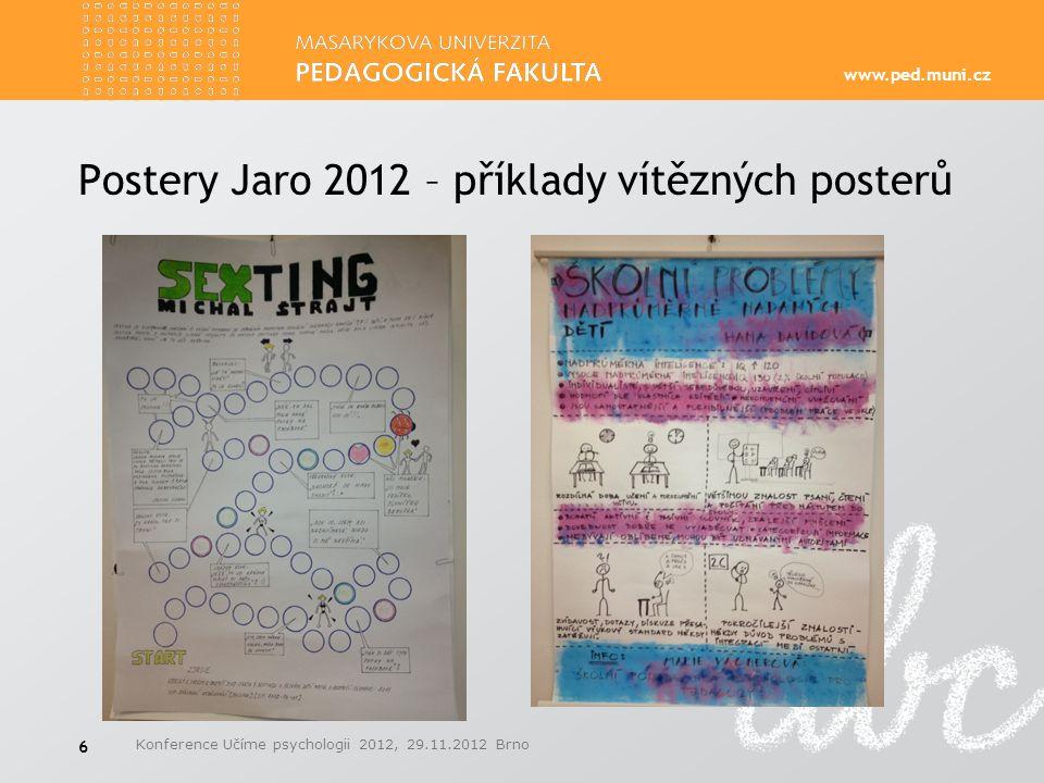 Postery Jaro 2012 – příklady vítězných posterů