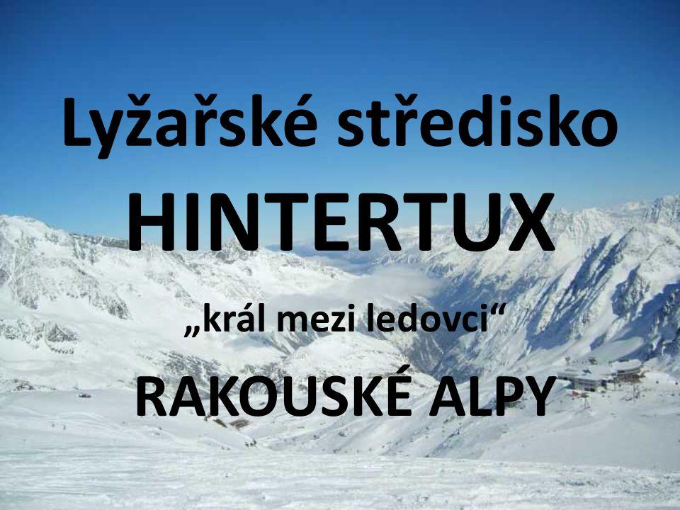 Lyžařské středisko HINTERTUX